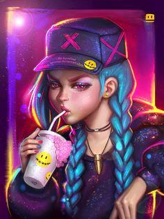 league-of-legends-sexy-girls: Jinx! by AyyaSap