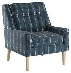 Shara Accent Chair, Indigo - Bring Beachy Ease to the Entry - Week 20 - Sales Events | One Kings Lane