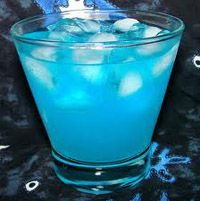 Adios Mofo = this drink is amazing you gotta try it. Ingredients:   1/2 oz vodka  1/2 oz rum  1/2 oz tequila  1/2 oz gin  1/2 oz Blue Curacao liqueur  2 oz sweet and sour mix  2 oz 7-Up® soda    Read more: Adios Motherfucker recipe http://www.drinksmixer.com/drink735.html#ixzz27UbMRIqI