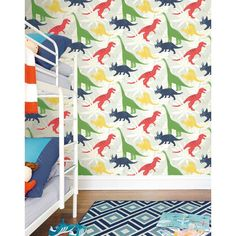 Harriet Bee Ilfracombe Pack Party 27 x 27 Wallpaper Roll Color: Gray/Green/Red Embossed Wallpaper, Brick Wallpaper, Wallpaper Panels, Wallpaper Roll, Pattern Wallpaper, Paint Wallpaper, Wallpaper Ideas, Boys Bedroom Wallpaper, Wallpapering Tips