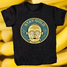 C3PO T-shirt by la barbuda  -  Camiseta androide de la barbuda  #staygold #c3po #droid #androide #starwars #laguerradelasgalaxias #labarbuda #labarbudashop #starwarstshirt #starwarsshirt
