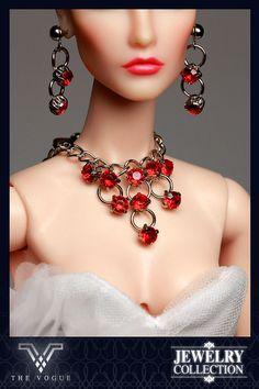 JW1002 The Vogue Red Rhinestone Jewelry Set by thevoguehkcom