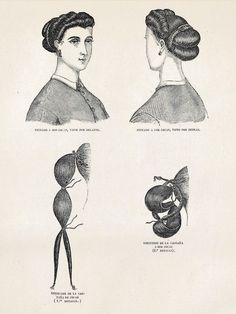 Victorian Hair Tutorial for medium-long hair. How to. Civil War period hairstyles, hair updo. Chinon.