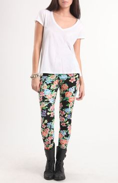 Nollie Black Floral Leggings
