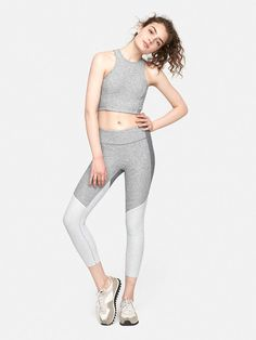 389b2b9d5f260 3 4 Tri-Tone Warmup Legging – Outdoor Voices Workout Leggings