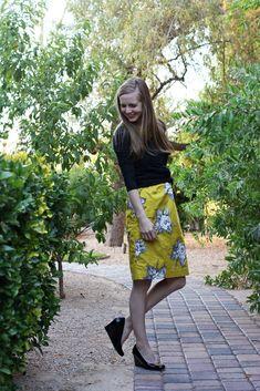Everyday Reading: Raiding My Sister's Closet: A Yellow Dress, Three Ways Joules Floral Skirt
