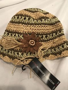 d29c4ec7cee The Accessory Collective With NYC Hat Stripes With Brown Flower Cloche  Style  fashion  clothing