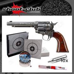 "Colt SAA .45 5,5"" CO2-Revolver 4,5mm Diabolos - Set"
