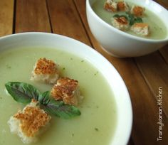 Cougette Soup with Basil  by Transylvanian Kitchen