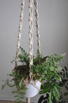 boho macrame macrame plant hanger hanging planter natural