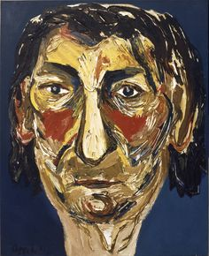 Karel Appel - Mijn moeder Gouache, Amsterdam, Cobra Art, Oil Canvas, Tachisme, Avant Garde Artists, Portrait Art, Portraits, Portrait Paintings