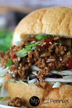 Asian Sloppy Joes!  An amazing twist on a typical sloppy joe!