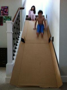 DIY Entertaining Kids' Cardboard Slide At Home | Kidsomania