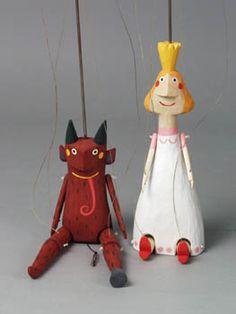 #Puppets by Bara Hubena #marionetten #marionnettes #puppetry #Puppenspiel