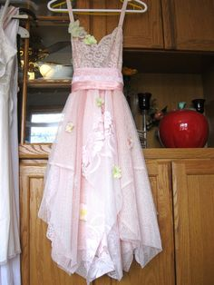 Baby pink tattered woodland pixie bohemian gypsy by LilyWhitepad