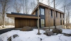mountain chalet plan quebec canada 1 Modern Mountain Cottage in Quebec, by Blouin Tardif Architecture