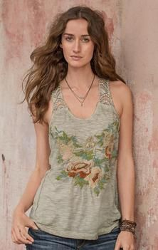 STELLA EMBROIDERED TANK