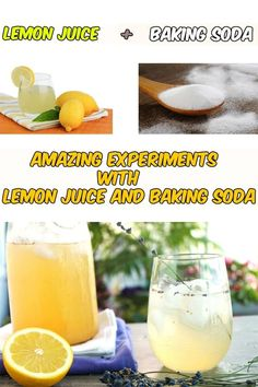 Amazing experiments with lemon juice and baking soda - Women Ideas