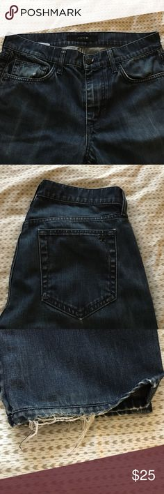 Joe's Jeans -- Good Condition, Super Comfy! Sz 32 These dark blue Joe's Jeans are in good condition aside from slight damage to the bottom hem (pictured). These jeans are an 'unaltered' size 32. Very comfortable slim-straight, Brixton Cut. *ANY REASONABLE OFFER CONSIDERED* Joe's Jeans Jeans Slim Straight
