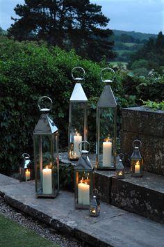 Lanterns of all sizes.  Lighting the night.