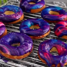 We're over rainbows. Galaxy donuts are the final frontier. These donuts are as beautiful as the night sky – and they're delicious too!