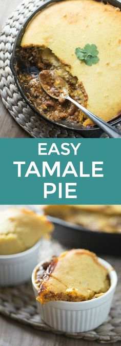 This made from scratch Easy Tamale Pie is made in one skillet!