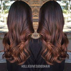 copper auburn balayage hair looks. Auburn Balayage, Brown Balayage, Balayage Hair, Caramel Balayage, Subtle Balayage, Caramel Ombre, Brown Ombre Hair, Brown Hair Colors, Reddish Brown Hair Color