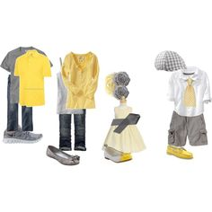 Spring Family Portrait Outfits Yellow Grey Love this -- but I can't wear yellow! Spring Family Pictures, Family Picture Poses, Family Picture Outfits, Spring Photos, Family Photo Sessions, Family Photos, Family Portrait Outfits, Family Portraits, Clothing Photography