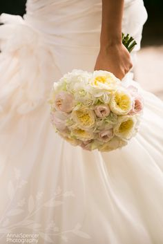 Bride's pastel pink, yellow, and white bouquet with touches of very pale green. Atlanta Botanical Garden, Botanical Gardens, Bride Bouquets, Bridesmaid Bouquet, Pastel Pink, Pink Yellow, Wedding Shoot, Wedding Ceremony, Garden Planner