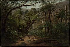 Eugene Von Guerard  Ferntree Gully in the Dandenong Ranges  1857
