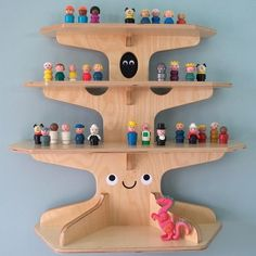 Wooden Treehouse Shelf - Cool Decorative Shelving Ideas, http://hative.com/cool-decorative-shelving-ideas/,