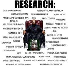 Don't take anything on Face Value...Research