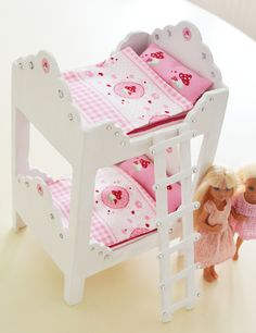 ...shown here how to make this pretty doll bed, so creative