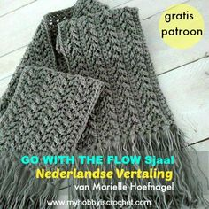 Crochet Scarf Go with The Flow Super Sjaal gratis patroon Nederlandse vertaling ~ Links to website and pattern in English. - Free Crochet Patterns and Tutorials by My Hobby is Crochet Crochet Mens Scarf, Crochet Wool, Crochet Motifs, Crochet Beanie, Crochet Gifts, Crochet Scarves, Crochet Shawl, Easy Crochet, Crochet Clothes