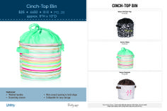 cinch-top-bin available May 1st.