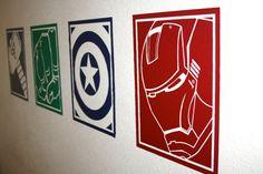 Superhero, The Avengers; Thor, The Hulk, Ironman and Captain America Vinyl Wall Decals