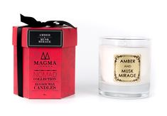 AMBER & MUSK MIRAGE – CANDLE – Magma London Candle Wax, Candles, Diffusers, Amber, Wordpress, London, Ivy, Pillar Candles, Lights