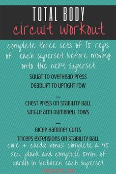 This workout targets the whole body and incorporates a bonus of core work and cardio in between each superset. Have Fun!