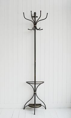 Wall mounted Bentwood metal coat stand