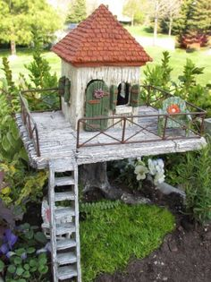 "Mini Miniature Fairy Garden ""Fairy Resort"" House"