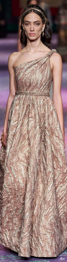 Christian Dior Spring 2020 Couture #spring2020  #couture #christiandior #vogue #fashionshow #womenswear #mode2020 Grecian Dress, Strapless Dress Formal, Formal Dresses, Dior Fashion, Fashion 2020, Fashion Trends, Christian Dior, Spring Couture, French Fashion Designers