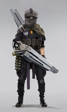 Not sure how practical an arm cannon is. Character Concept, Character Art, Concept Art, Character Design, Armor Concept, Rpg Cyberpunk, Cyberpunk Character, Android Robot, Medieval Combat