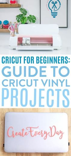 Cricut for Beginners: Guide to Cricut Vinyl Projects - Makers Gonna Learn # cricut projects ideas diy gifts Tattoo Liebe, Diy Auto, Cricut Iron On Vinyl, Cricut Tutorials, Used Vinyl, Vinyl Crafts, Cricut Vinyl Projects, Cricut Creations, Adhesive Vinyl