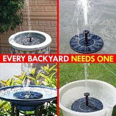 Add A Level Of Class To Your Outdoor Space! Diy Garden Fountains, Diy Fountain, Outdoor Water Fountains, Solar Fountains, Bird Bath Fountain, Garden Yard Ideas, Garden Projects, Garden Crafts, Garden Boxes