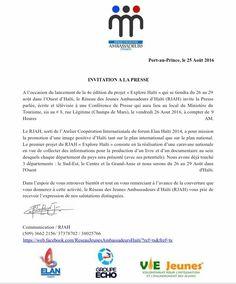Haiti Youth Press Invite