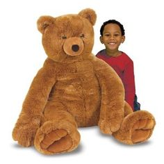 Jumbo Plush Brown Teddy Bear. Even though the product is meant for children, it brought the child out of my girlfriend. It gave her such a big smile. She cuddles with it on the couch while watching television. I may even buy one for me to hang with when I'm watching the Bears game! Follow the link to Amazon to learn why people love this teddy bear >> http://www.my-linker.com/hop/PlushBrownTeddyBear