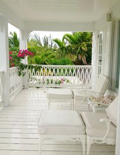 The balcony off of India's bedroom. I wanted to do nothing more than lounge here. @hsn
