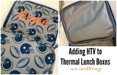 Wondering how to put heat transfer vinyl on thermal bags like lunch boxes and coolers? It's easy - you just need to know the right settings so you don't melt the bag!