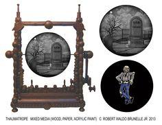Thaumatrope- Kinetic sculpture by Robert Waldo Brunelle JR 2013