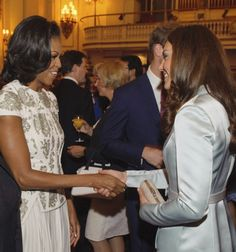 Michelle Obama and Kate Middleton  London 2012 Olympics. In my dream world, they are BFF's!!!!
